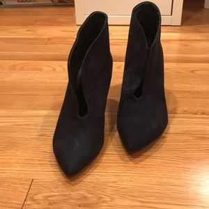 Anine Bing Shoes - Anine Bing Booties Navy Blue Micro Suede NEW